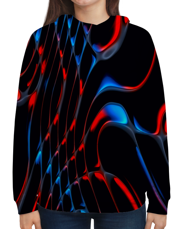 Толстовка с полной запечаткой Printio Красно-синие полосы бомбер printio красно синие полосы
