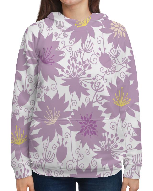 Толстовка с полной запечаткой Printio Фиолетовые цветы