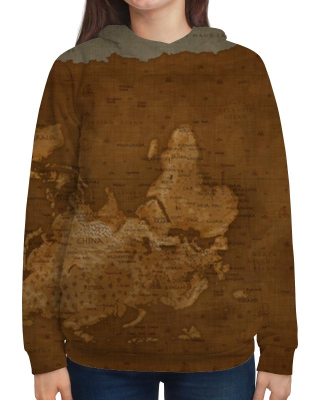 Толстовка с полной запечаткой Printio Карта мира пазл 3000 карта мира 1375г авраам крескес 16355
