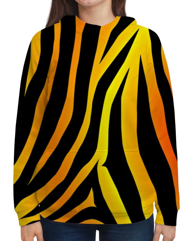 Толстовка с полной запечаткой Printio Желто-черная