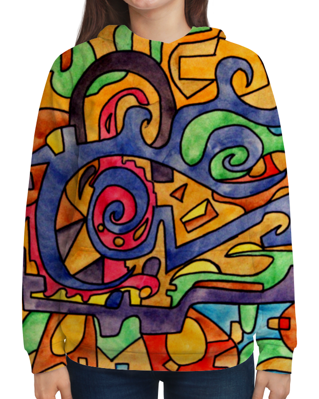 Толстовка с полной запечаткой Printio 2`xj,uuu7 юбка карандаш укороченная printio 2 xj uuu7