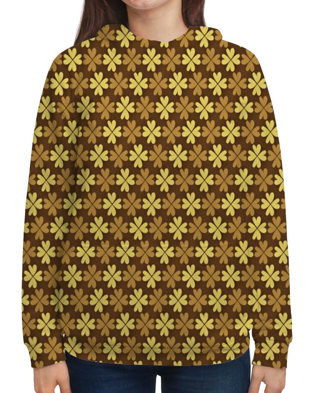 Толстовка с полной запечаткой Printio Листы клевера листы латуни