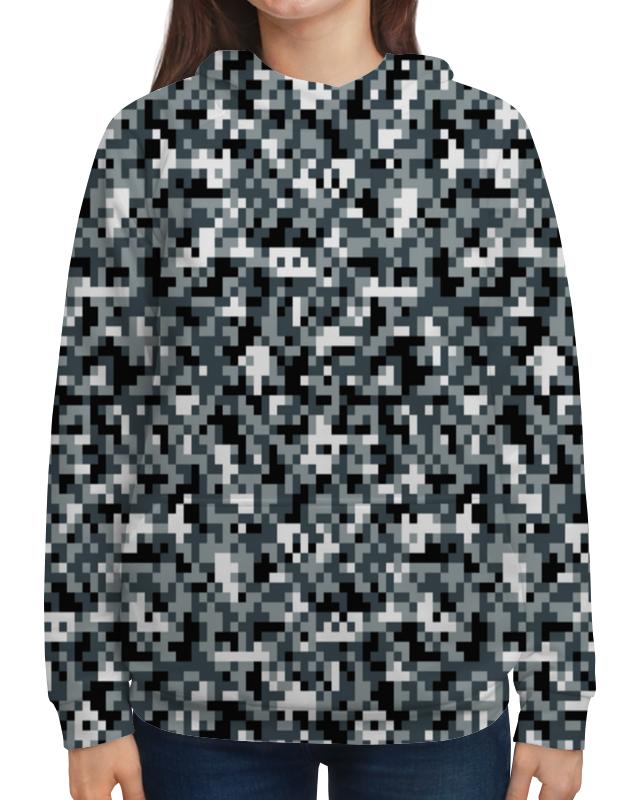 Толстовка с полной запечаткой Printio Камуфляж серый