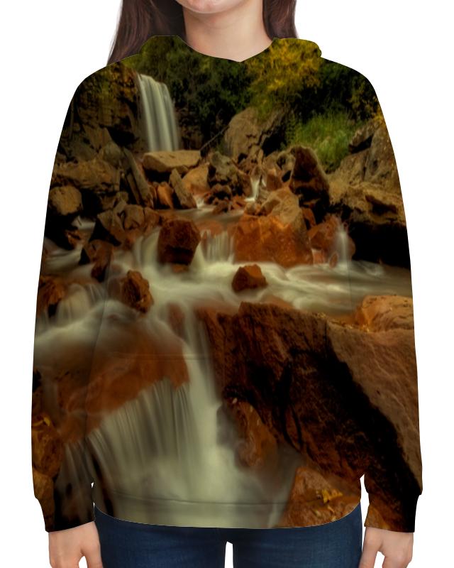 Толстовка с полной запечаткой Printio Горный ручей случай на мосту через совиный ручей