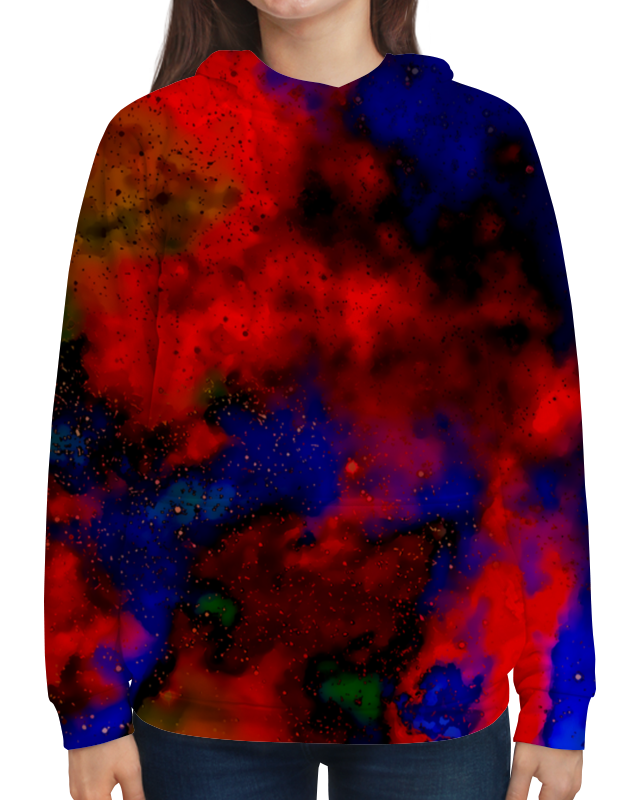 Толстовка с полной запечаткой Printio Красно-синий узор