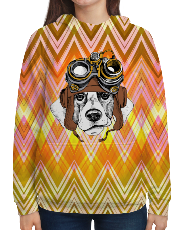 Толстовка с полной запечаткой Printio Пес летчик футболка с полной запечаткой для мальчиков printio пес летчик