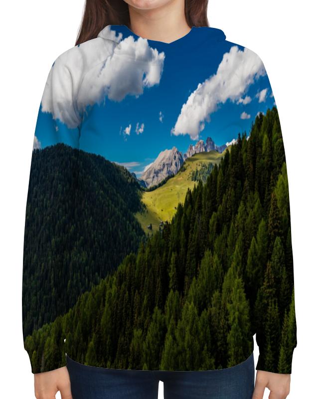 купить Толстовка с полной запечаткой Printio Лесной склон недорого