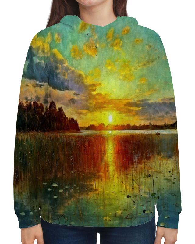 Толстовка с полной запечаткой Printio Закат у озера