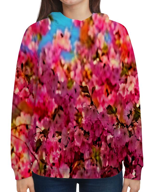 Толстовка с полной запечаткой Printio Весенние цветы