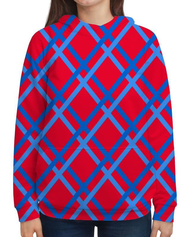 Толстовка с полной запечаткой Printio Сине-голубые линии футболка с полной запечаткой женская printio сине голубые линии