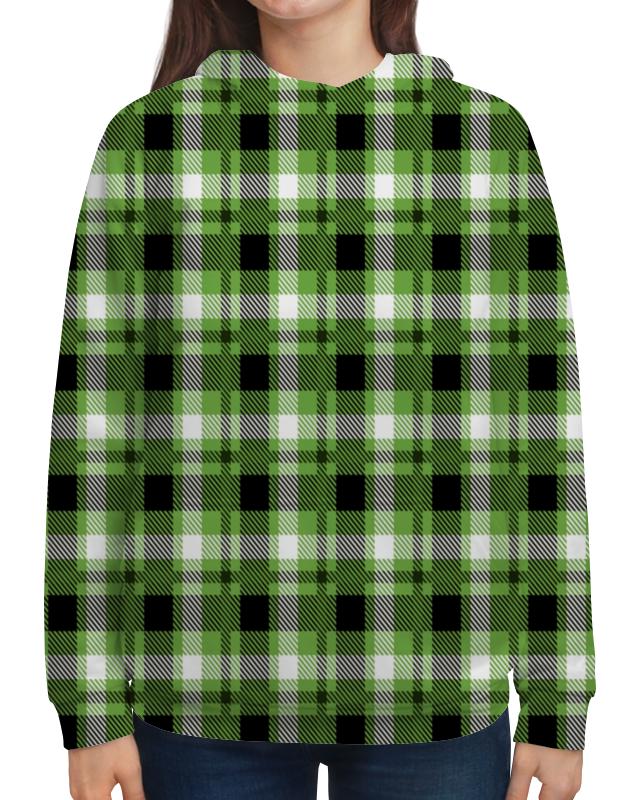 Толстовка с полной запечаткой Printio Зеленая клетка