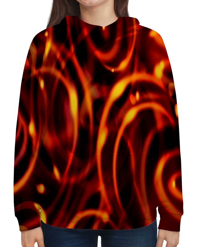 Толстовка с полной запечаткой Printio Пламенный пламенный мотор машинка инерционная volvo пожарная охрана