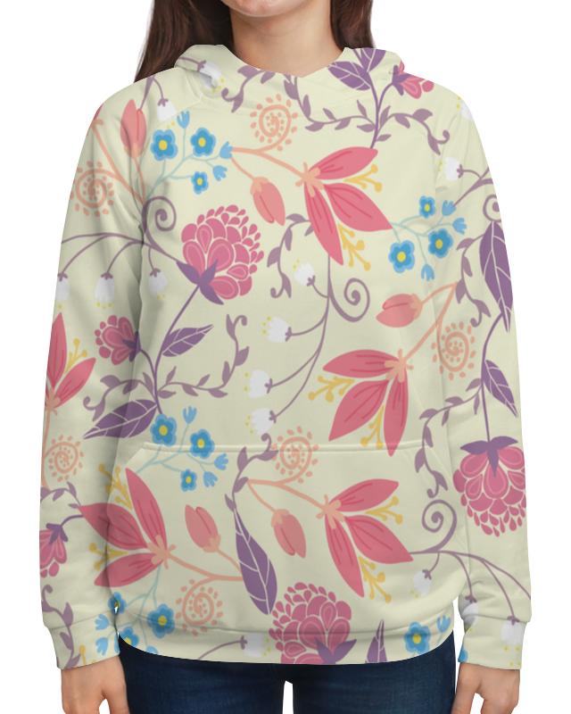 Толстовка с полной запечаткой Printio Весенние цветочки свитшот унисекс с полной запечаткой printio весенние цветочки
