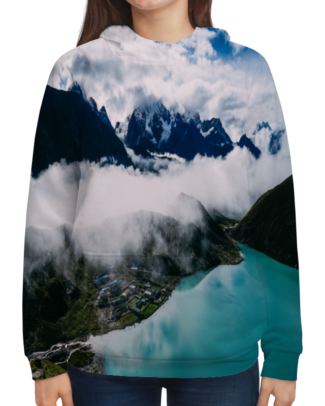 Толстовка с полной запечаткой Printio Туман в горах цветной тм туман в горах