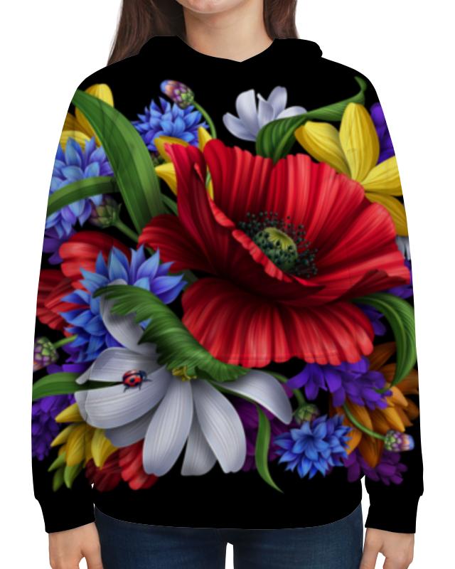 Толстовка с полной запечаткой Printio Композиция цветов композиция из цветов и конфет