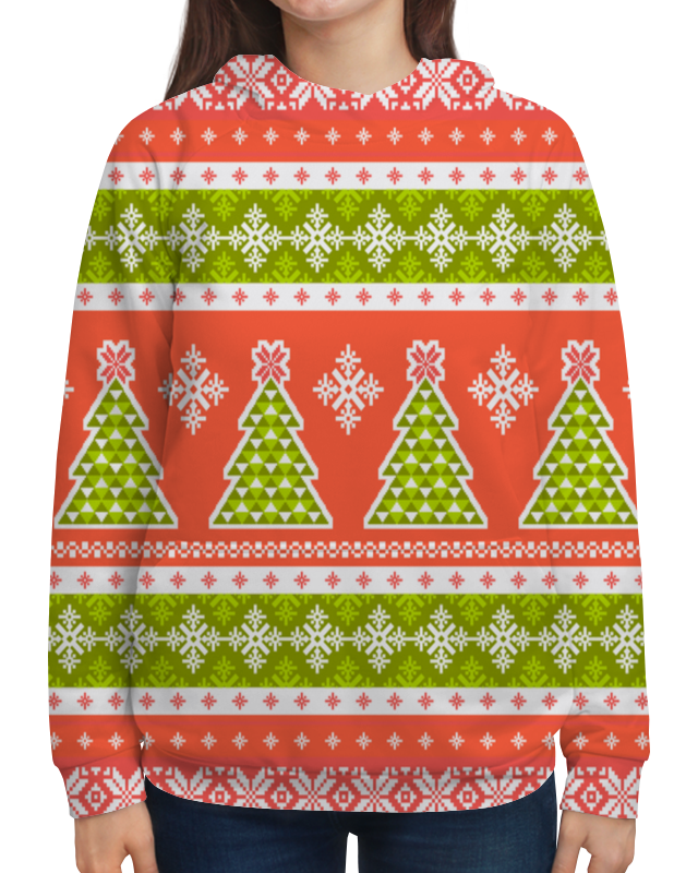 Толстовка с полной запечаткой Printio Новогодний орнамент цена 2017