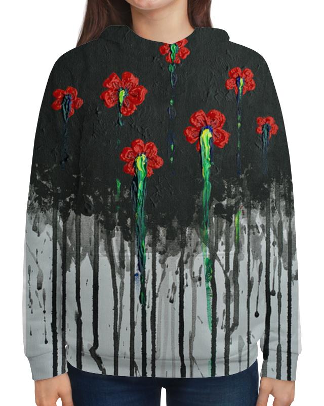 Толстовка с полной запечаткой Printio Красные маки бомбер printio красные маки