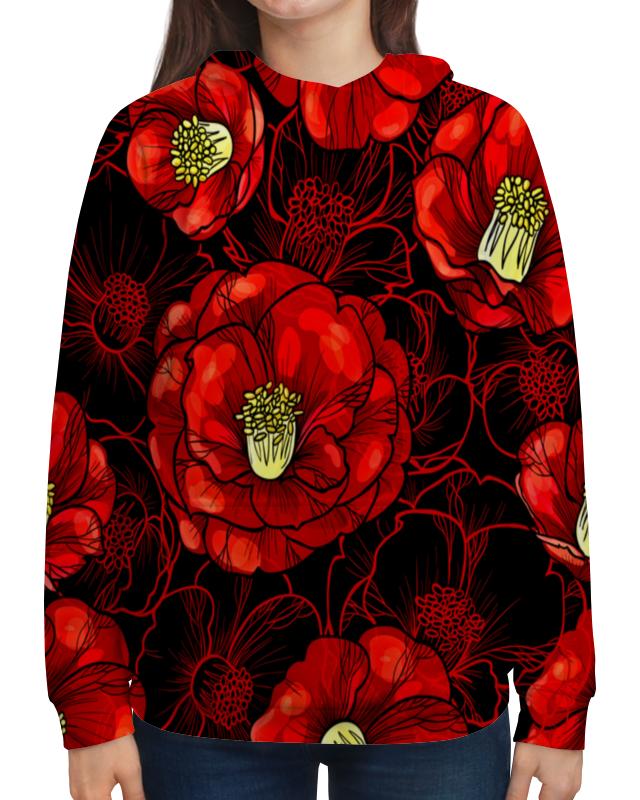 Толстовка с полной запечаткой Printio Цветы мака борцовка с полной запечаткой printio цветы мака