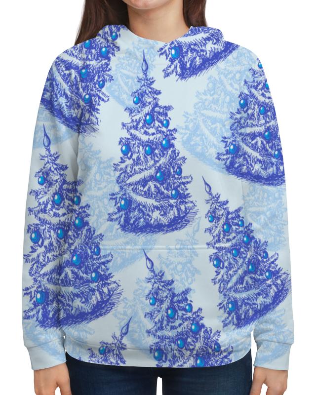 Толстовка с полной запечаткой Printio Снежные елки