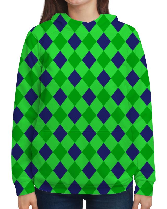 Толстовка с полной запечаткой Printio Сине-зеленые квадраты платье с рукавами printio сине зеленые квадраты