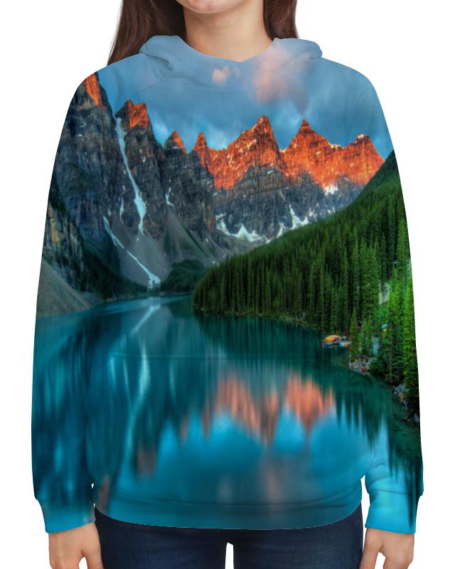 Толстовка с полной запечаткой Printio Горы у озера