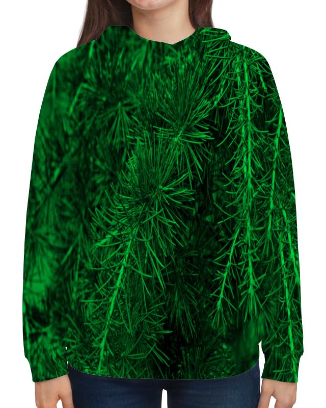 Толстовка с полной запечаткой Printio Зеленая ель