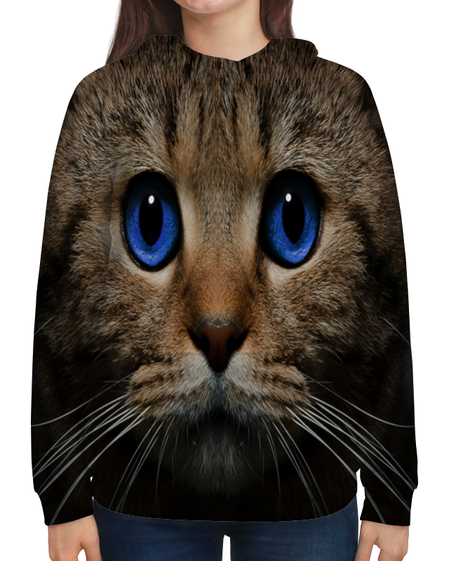 Толстовка с полной запечаткой Printio Котенок котенок с подарком