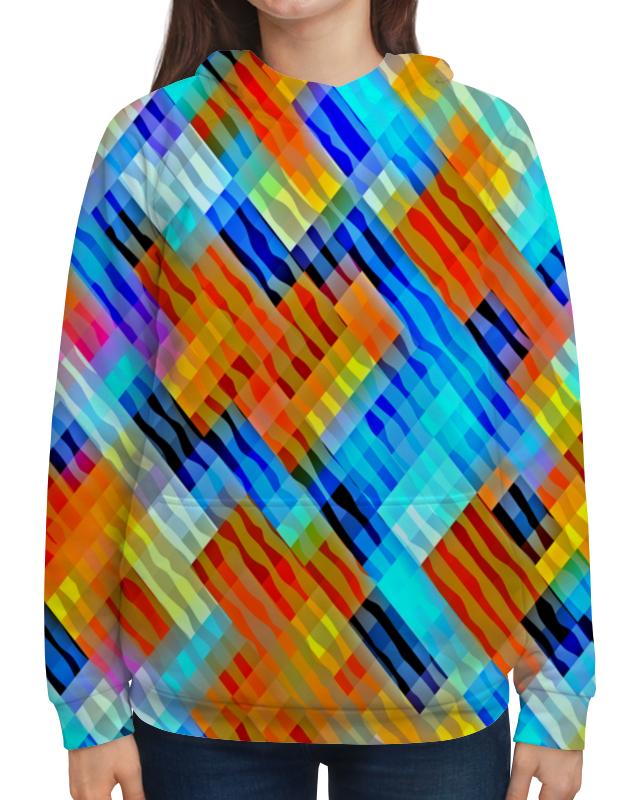Толстовка с полной запечаткой Printio Волнистый узор футболка с полной запечаткой для девочек printio волнистый узор