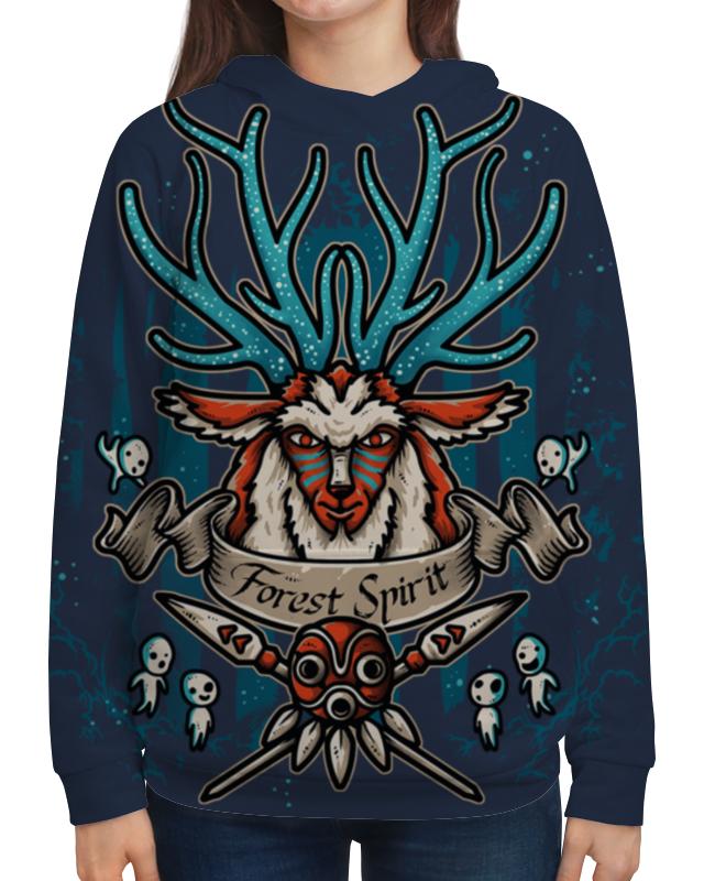 Толстовка с полной запечаткой Printio Forest spirit. лесной дух футболка с полной запечаткой для мальчиков printio forest spirit лесной дух
