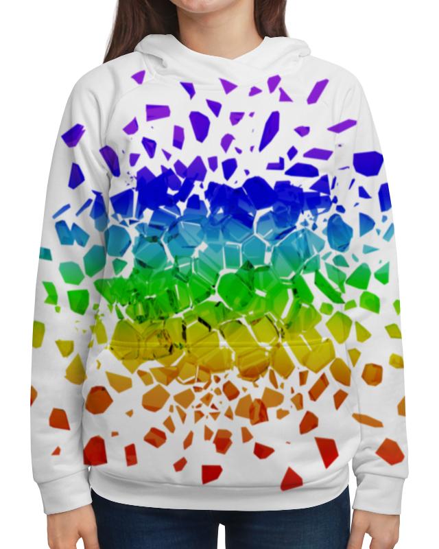 Толстовка с полной запечаткой Printio Broken rainbow футболка с полной запечаткой женская printio broken rainbow