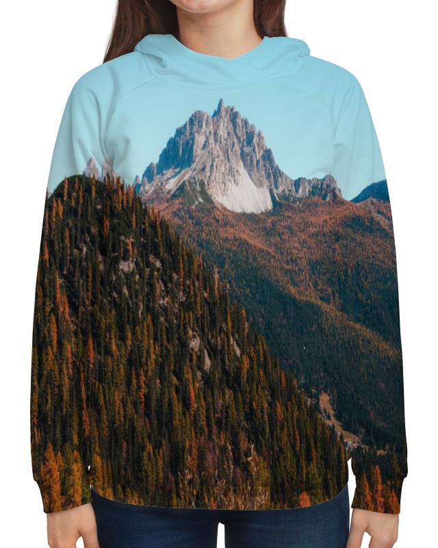 Толстовка с полной запечаткой Printio Скалы и лес подушка 40х40 с полной запечаткой printio скалы и лес
