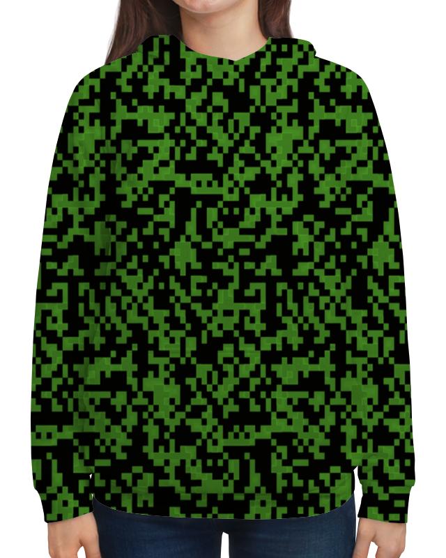 Толстовка с полной запечаткой Printio Изумрудный камуфляж жен сорочка арт 19 0076 изумрудный р 44