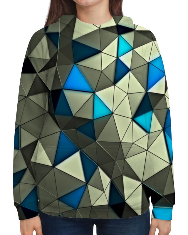 Толстовка с полной запечаткой Printio Стекло серо-голубое