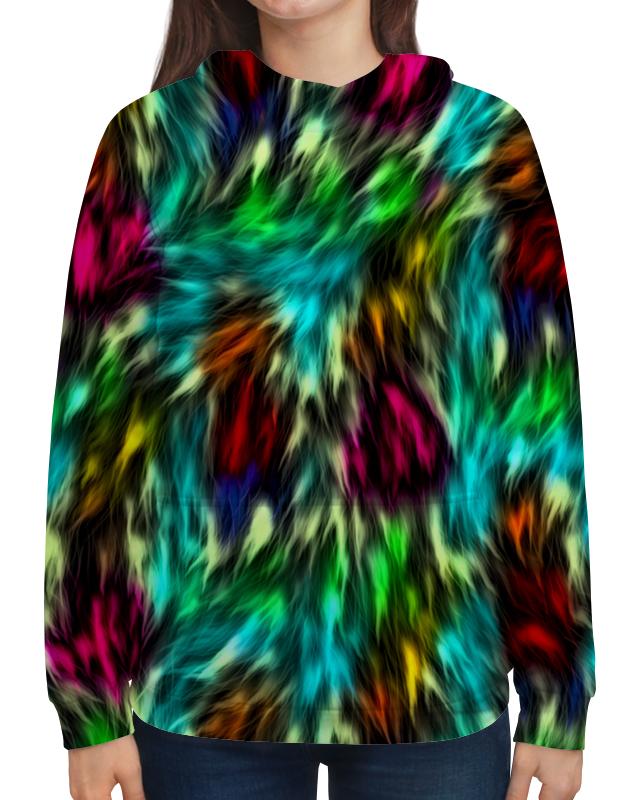 Толстовка с полной запечаткой Printio Разноцветные краски romanson rl 0358q lg wh