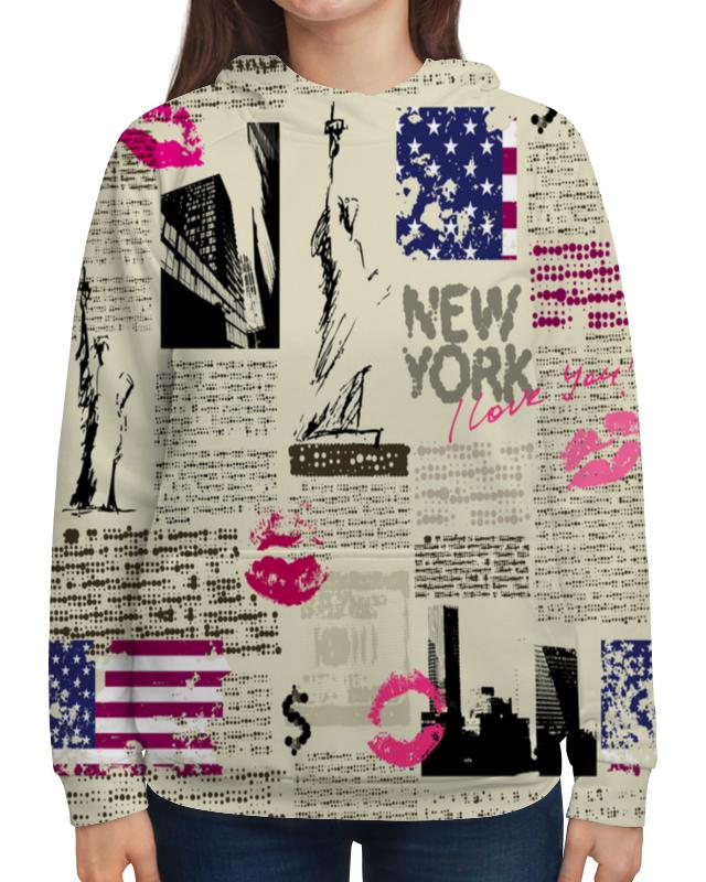 Толстовка с полной запечаткой Printio New york толстовка huf new york box logo crew