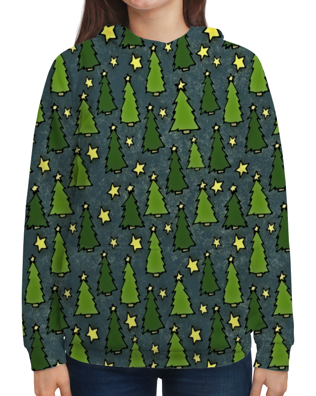 Толстовка с полной запечаткой Printio Новогодняя елка модели без клея и ножниц новогодняя елка