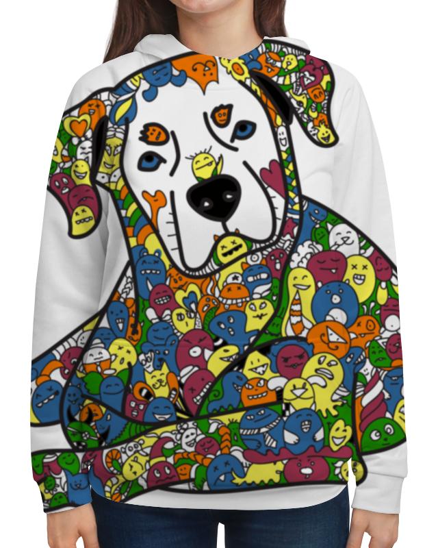 Толстовка с полной запечаткой Printio Собака из дудл монстров рубашка поло с полной запечаткой printio собака из дудл монстров
