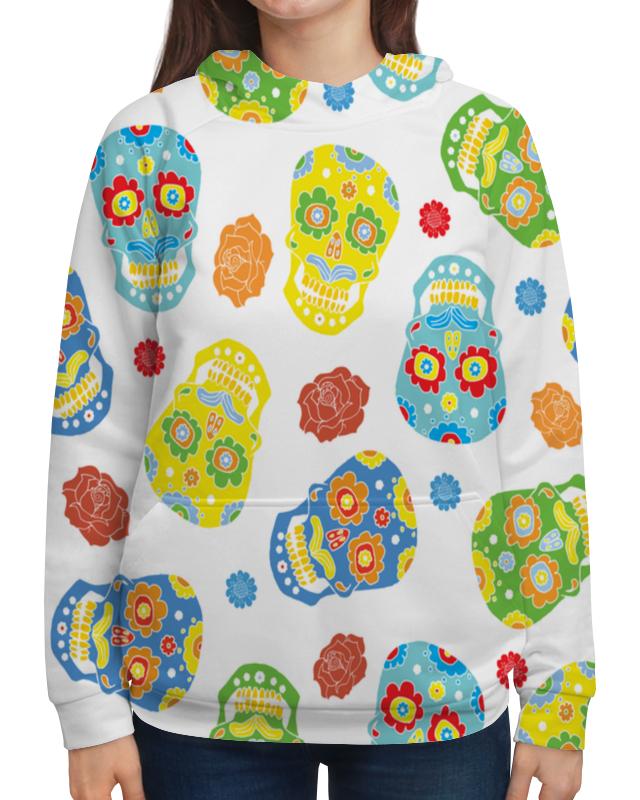Толстовка с полной запечаткой Printio Расписные черепа платье летнее printio расписные черепа