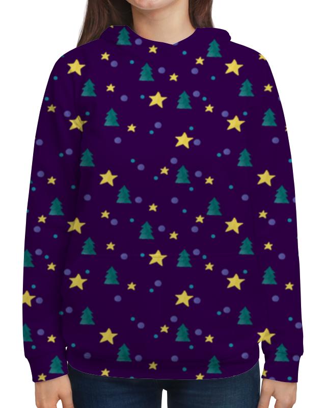 Толстовка с полной запечаткой Printio Елки и звезды нашествие дни и ночи