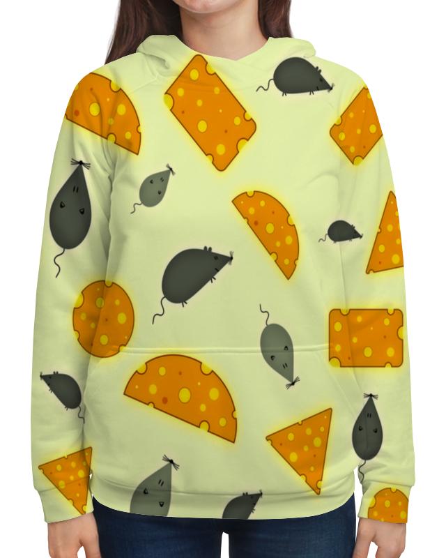 Толстовка с полной запечаткой Printio Мышь и сыр футболка с полной запечаткой для девочек printio мышь и сыр