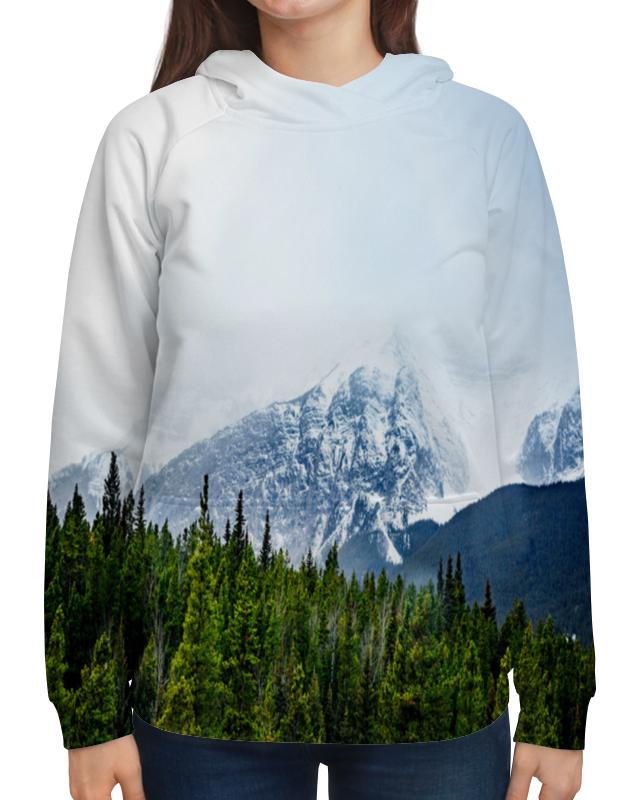 Толстовка с полной запечаткой Printio Снежные горы
