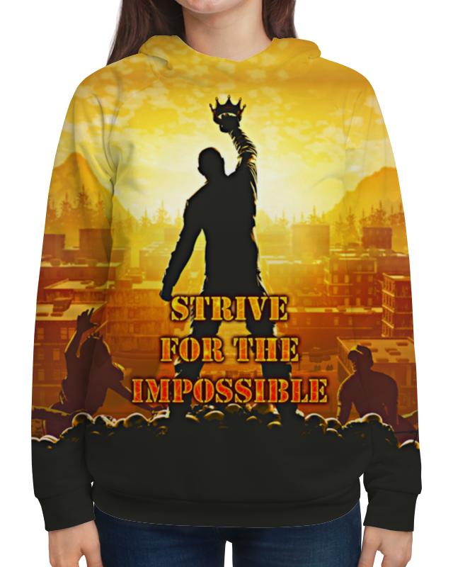 Толстовка с полной запечаткой Printio Impossible six impossible things