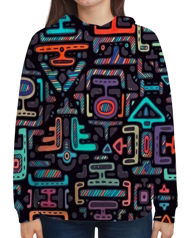Толстовка с полной запечаткой Printio Символы янтры защитные символы востока