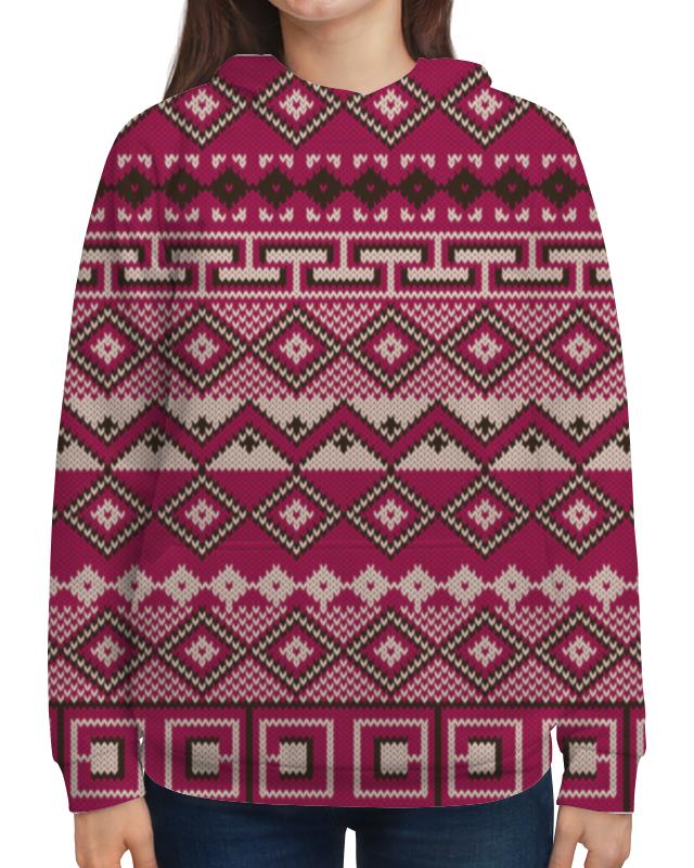 Толстовка с полной запечаткой Printio Этнический узор жен ожерелья с подвесками мода этнический перо кофейный красный синий 70cm ожерелье назначение праздники для улицы