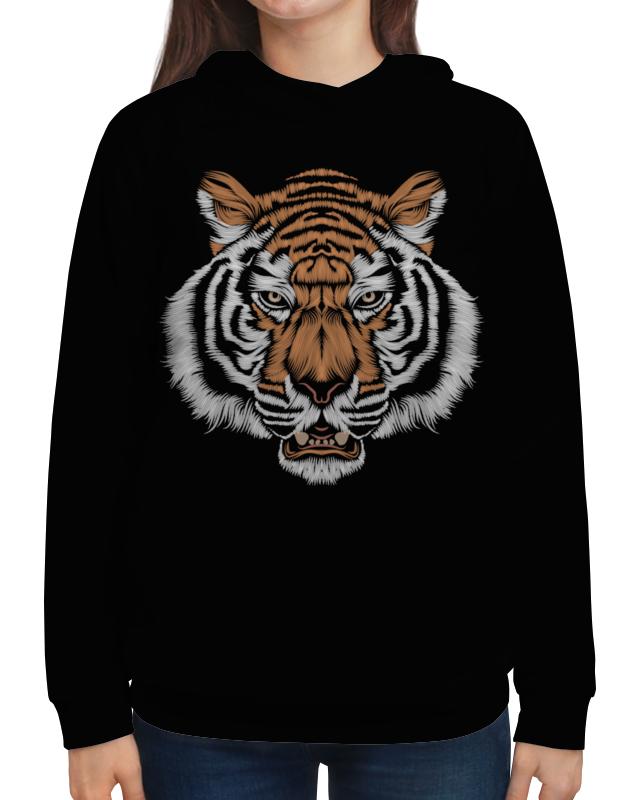 Толстовка с полной запечаткой Printio Взгляд тигра наборы для рисования цветной картины по номерам взгляд тигра