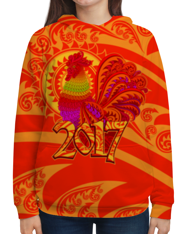 Толстовка с полной запечаткой Printio Год петуха скальп петуха veniard chinese cock cape