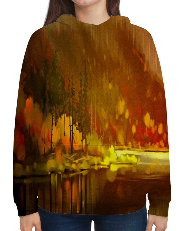 Толстовка с полной запечаткой Printio Осенний лес чехол для iphone 5 глянцевый с полной запечаткой printio осенний день сокольники левитан