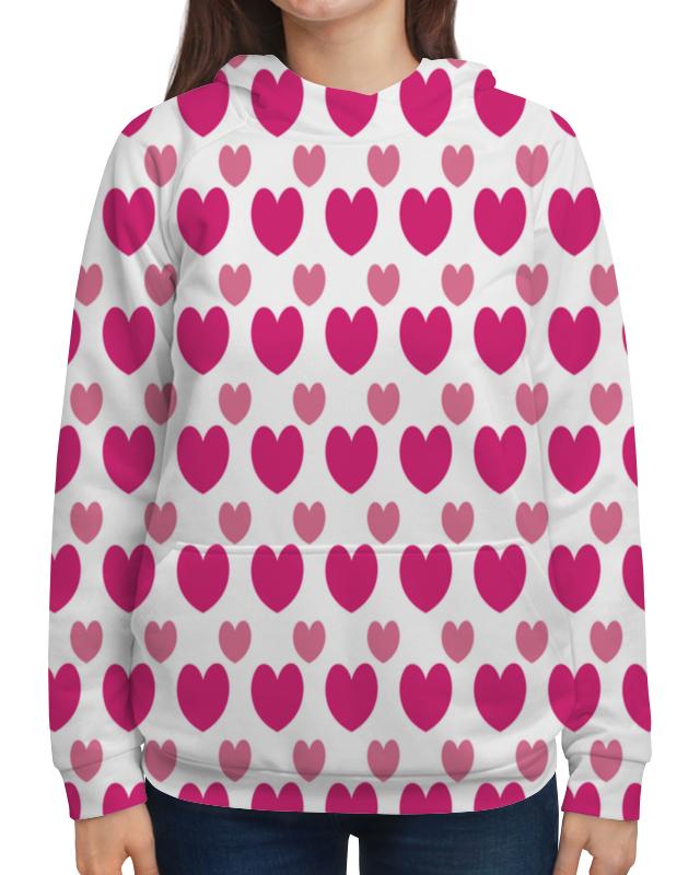 Толстовка с полной запечаткой Printio Розовые сердечки стул tetchair компьютерный розовые сердечки