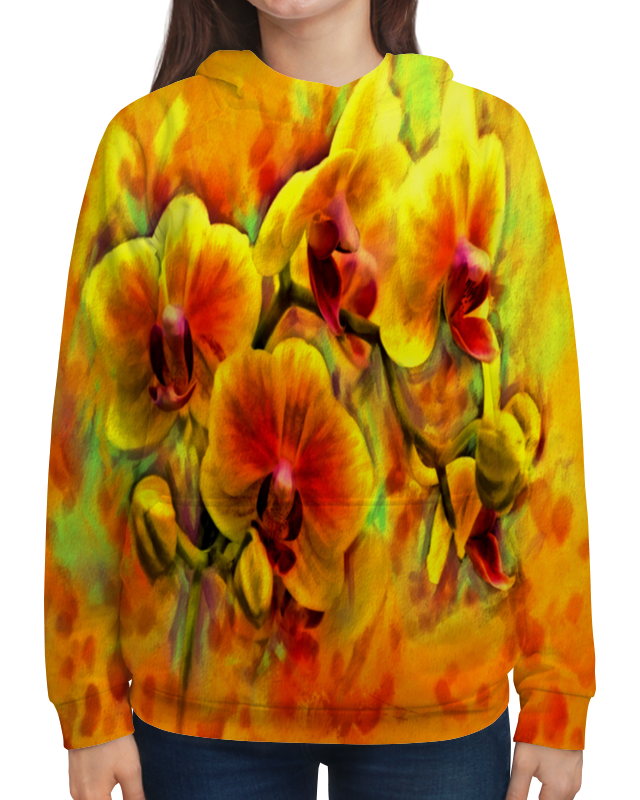 Толстовка с полной запечаткой Printio Желтые цветы