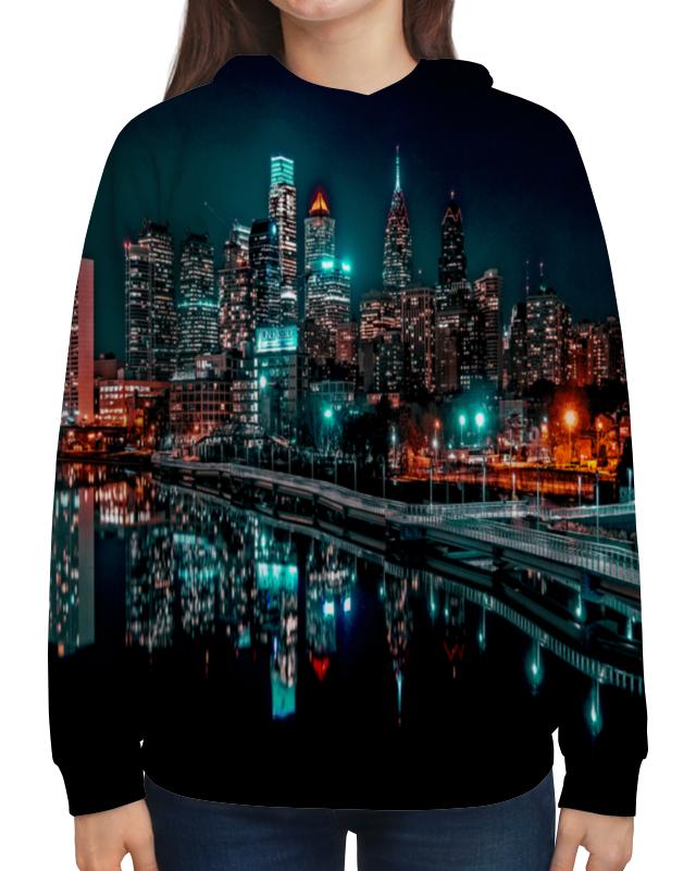 Толстовка с полной запечаткой Printio Ночные огни ночные сорочки и рубашки